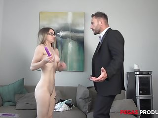 Teen blonde Hanna Paige masturbates in the balance a cock comes chat with to fuck