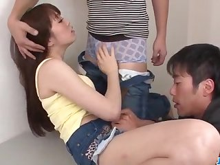 Dirty group play with sex-crazed chick Moe Sakura