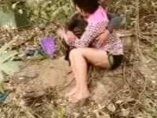 Indian school team a few Alfresco lovemaking chudayi drained porn