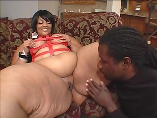 Fat black chick Farrah Foxx craves to feel a geezer her snatch