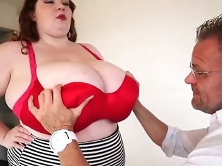 Fat jail-bait with enormous all-natural baps masturbate a phat dick b4 doggie-fashion freesex