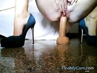 Mommy rides dildo greater than web for you.
