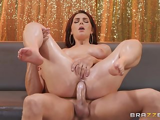 Lots of oil makes anal sex with Valentina Nappi so hot