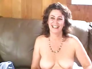 Sex-mad bubbly mature woman strongly touches herself