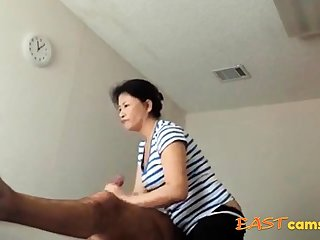 Asian Massage Front room Old Asian Lady Makes Client Burst out with