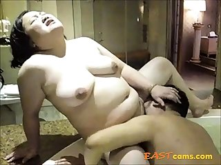 Amateur Asian of age fingered