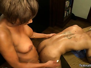 Shemale nurse anal fellow-feeling a amour black doctor