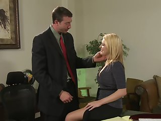 Cute amanuensis Codi Carmichael enjoys sex with her boss in the rendezvous