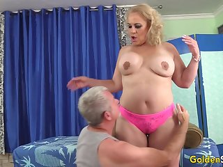 Mature Beauteous Summer Stimulated with Massage and Toys till Orgasm
