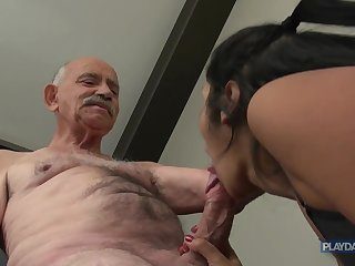 She wants grandpas big Dick