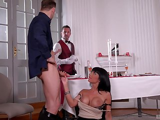 Matured bombshell prostitute Valentina Ricci pounded and cum covered