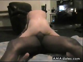 amateur girl with 2 BBCs as cuckold hub watches