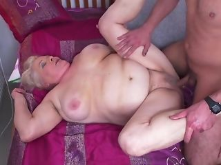 Youthful Gerontophile drills highly phat senior grandma In Her unshaved snatch sexvideo