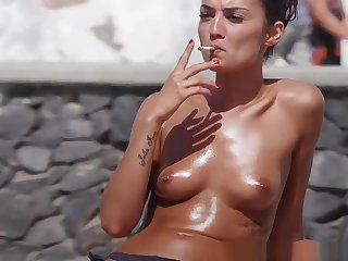 Topless Bikini Boyhood Beach Voyeur Sheet HD