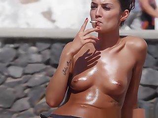 Topless Bikini Boyhood Beach Voyeur Sheet HD