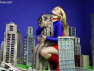 Supergirl Evil-smelling Evil - Cosplay Fetish Babe