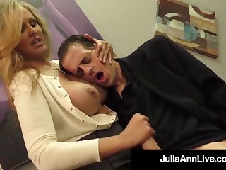 Julia Ann is a screwing blondie female, who loves to touch boners and make them fusillade