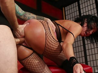 Natural tits Veronica Avluv roughly pantyhose gets deeptroathed