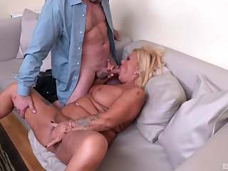 Horny male fucks this full-grown unconfirmed she cums like a whore