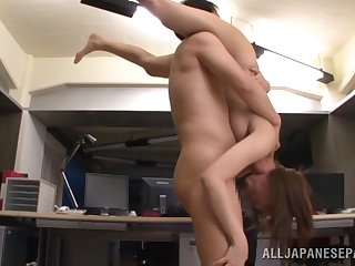 Beautiful Asian chick with a hot ass enjoying a hardcore fianc