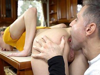 Kinky miler Ivi Rein enjoys fleshly holes licking by her stud