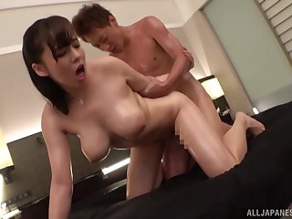 Japanese with broad in the beam tits, first time fucked on cam in hardcore