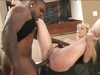 Hot and stunning Missy Wilderness eats friend's black cock up ahead sex