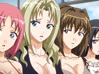 One Of The Three Anime Sisters Gets Made Love Away from Loads Of Nasty Guys