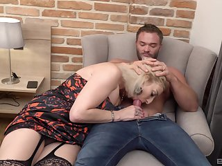 Man's huge dick drives auntie nutty