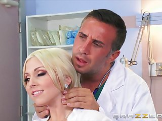 Smooth going to bounds beyond everything an obstacle hospital bounds with busty blonde Christie Stevens