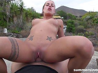 SummerSinners - Silvia Dellai POV Fucked Outdoors