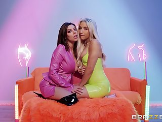 Nude lesbian oral porn for two lovely chicks on fire
