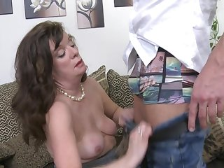 Mature wife Renata drops say no to panties to be fucked by a stud