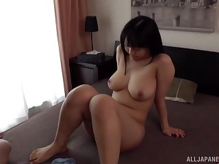 Fucking handy home with precise tits Japanese Inaba Ruka ends with a BJ