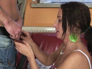 Passionate female parent plus her son