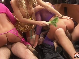 Hardcore group sex party with busty pornstar Stacey Saran