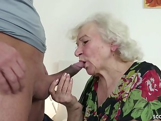 GERMAN Consistent CAUGHT GRANNIE JERK With an increment of HELP WITH POKE